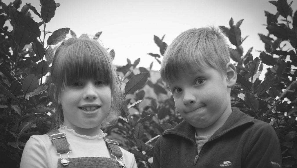 Brody and Faith portrait shot by professional photographer Fran Stockwell